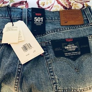 Levi's Women's Original 501 Cropped Button Fly NWT